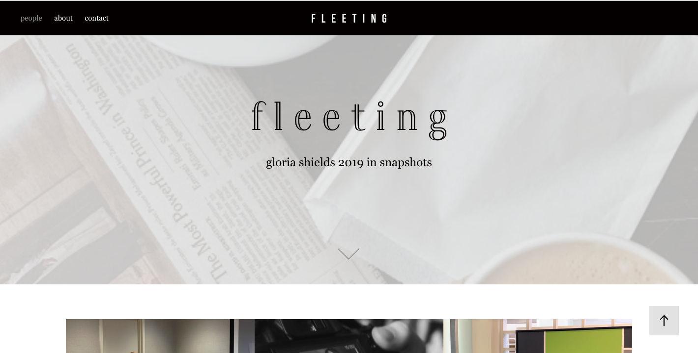 The fleeting moments of Gloria Shields